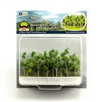 "0595619 WOODS EDGE TREES Pastel Green, 2"" to 2.5"", N-scale, 20/pk"
