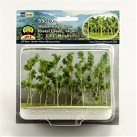 "0595620 WOODS EDGE TREES Pastel Green, 3"" to 3.5"", HO-scale, 14/pk"