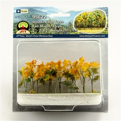 "0595622 WOODS EDGE TREES Fall Mixed, 2"" to 2.5"", N-scale, 15/pk"
