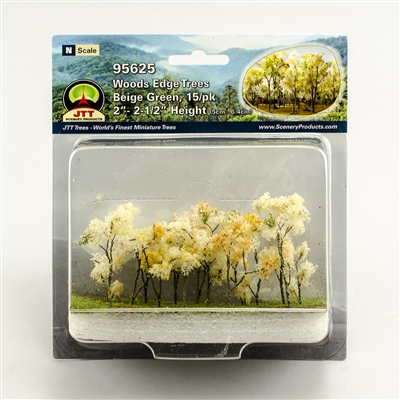 "0595625 WOODS EDGE TREES Beige Green, 2"" to 2.5"", N-scale, 15/pk"