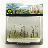 "0595628 WOODS EDGE TREES Bare, 2"" to 2.5"", N-scale, 20/pk"