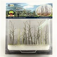 "0595629 WOODS EDGE TREES Bare, 3"" to 3.5"", HO-scale, 14/pk"