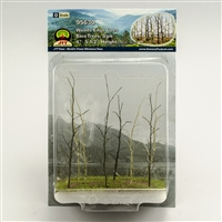 "0595630 WOODS EDGE TREES Bare, 4"" to 5.5"", O-scale, 8/pk"