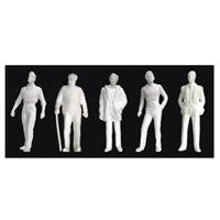 "0597126 FIGURES Male, 1/2""=1'-0"" 1:24, White 3/pk"