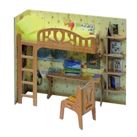 A SET OF FURNITURE: A CORNER SCHOOLBOY