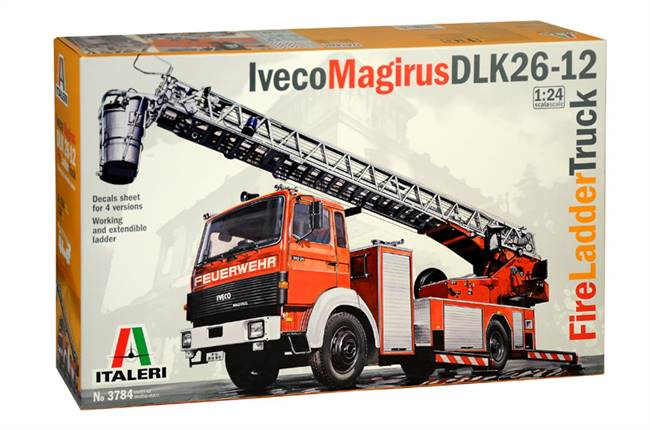 553784 1/24 Fire Ladder Truck Iveco-Magirus DLK 23-12
