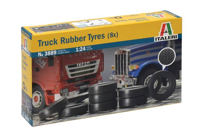 553889 1/24 Truck Rubber Tires
