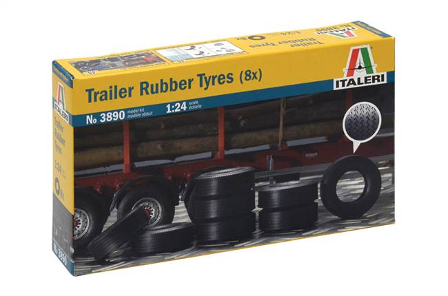 553890 1/24 Trailer Rubber Tires