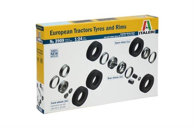 553909 1/24 European Tractors Tyres and Rims