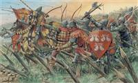 556027 1/72 ENGLISH KNIGHTS AND ARCHERS (100 YEARS WAR)