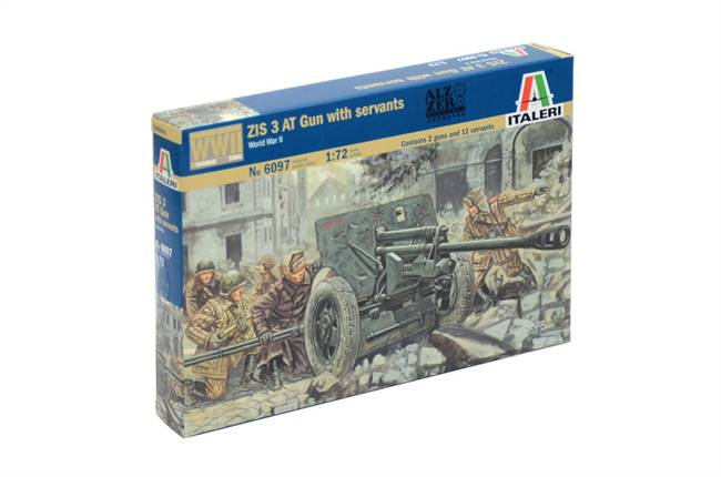 556097 1/72 WWII Russian ZIS3 AT Gun with Servants