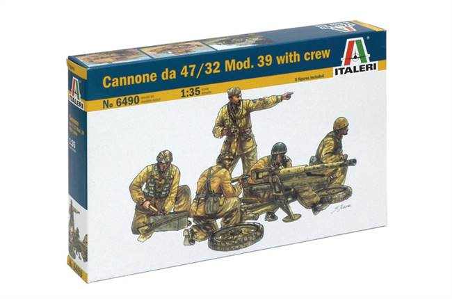 556490 1/35 Cannone da 47/32 Mod.39 with crew
