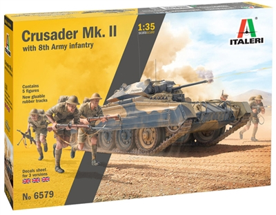 556579 1/35 Crusader Mk. II with 8th Army Infantry