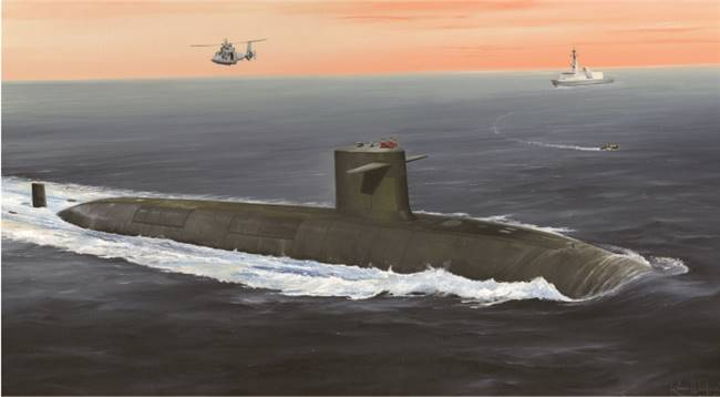 83519 1/350 French Navy Le Triomphant SSBN