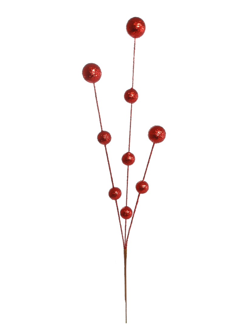 "24"" GLT BALL MIXED SPIKE - RED"