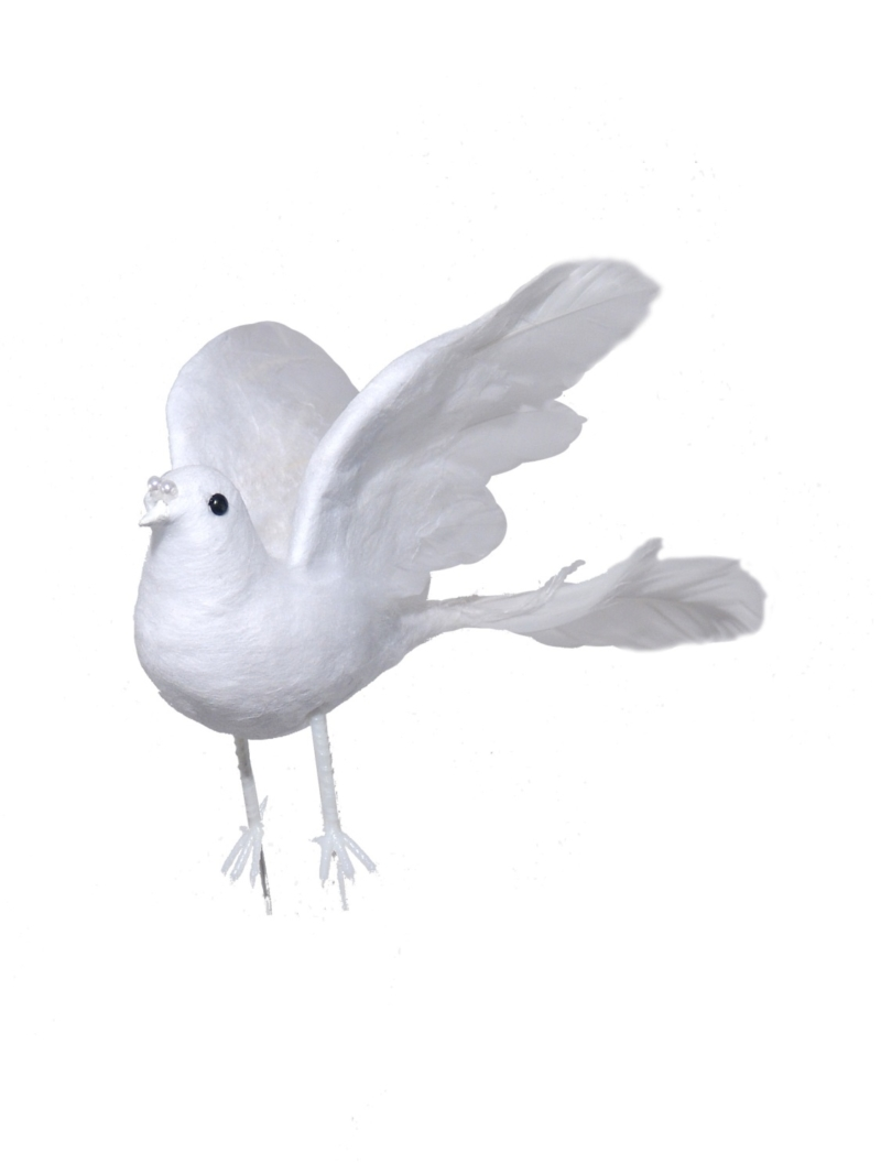"7"" FEATHER DOVE - WHITE"
