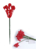 "8"" LACQUERED HOLLY BERRY PICK - NATURAL"