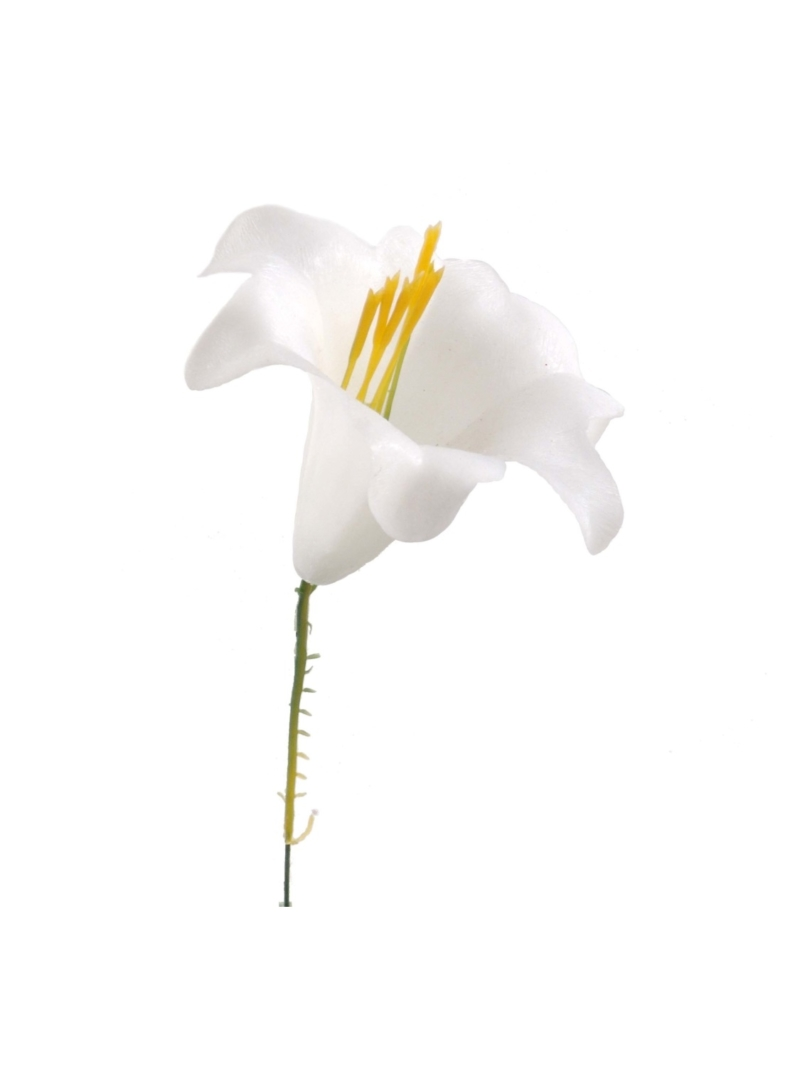 ARTIFICL EASTER LILY PICK - WHITE