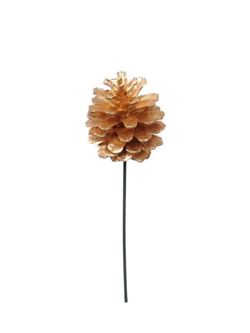 "2.5"" GOLD PINE CONE PICK (2961GD)"