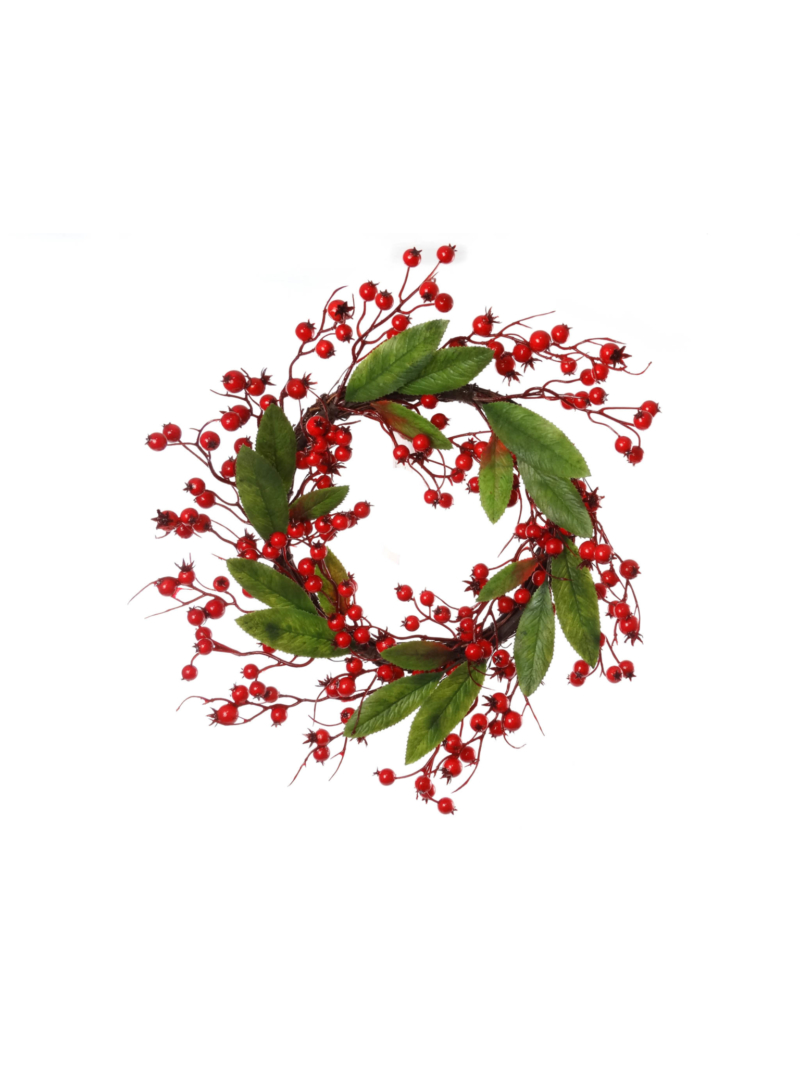 "16"" BERRY WREATH X195 - RED"