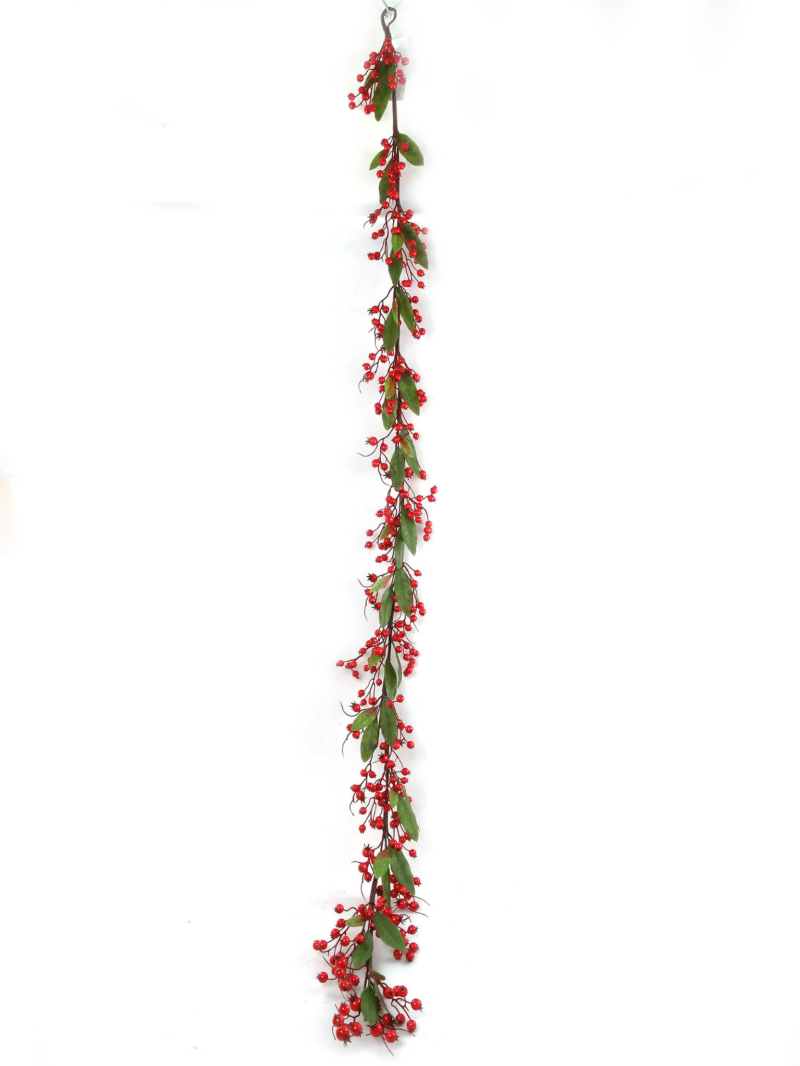 6' BERRY GARLAND X357 - RED