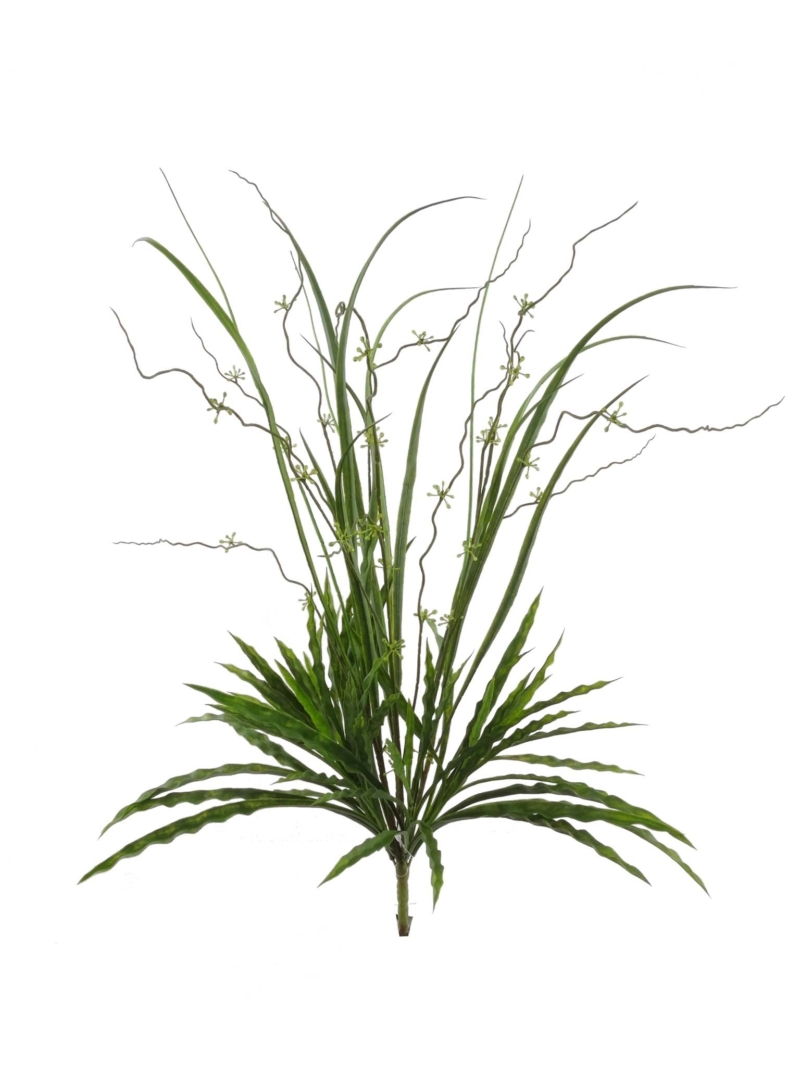 "28"" MIX GRASS BUSH X12 - GREEN"