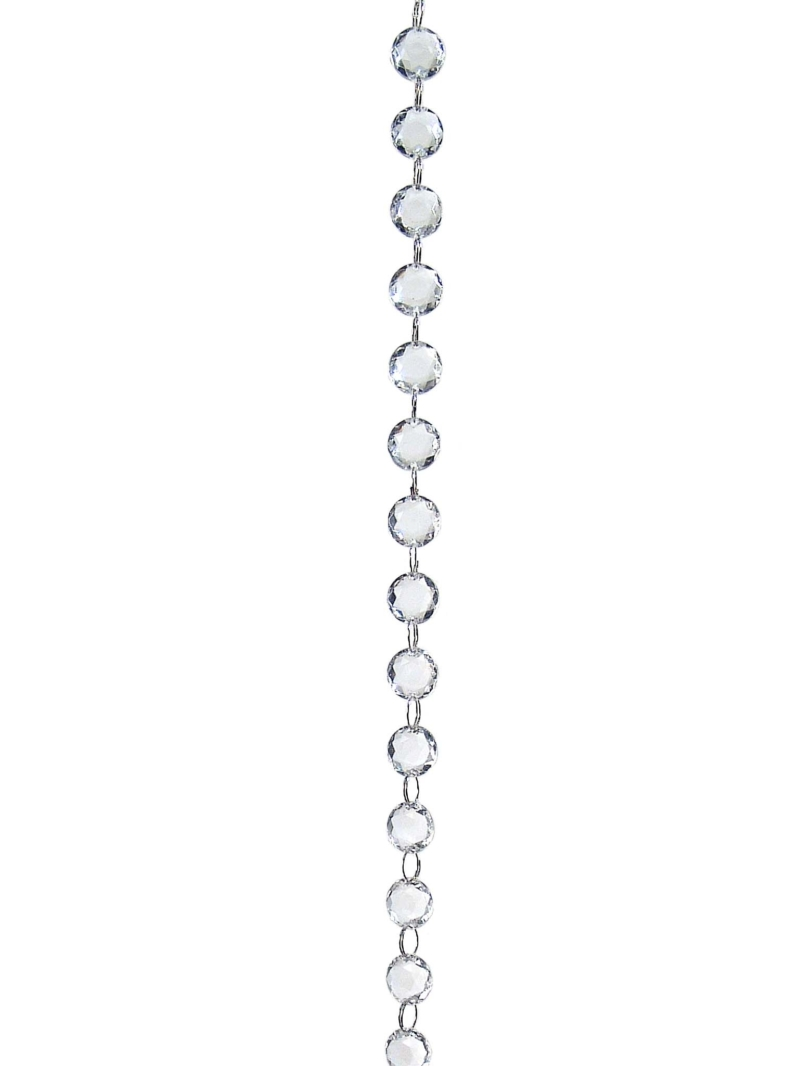 6' ROUND JEWEL GARLAND   - CLEAR