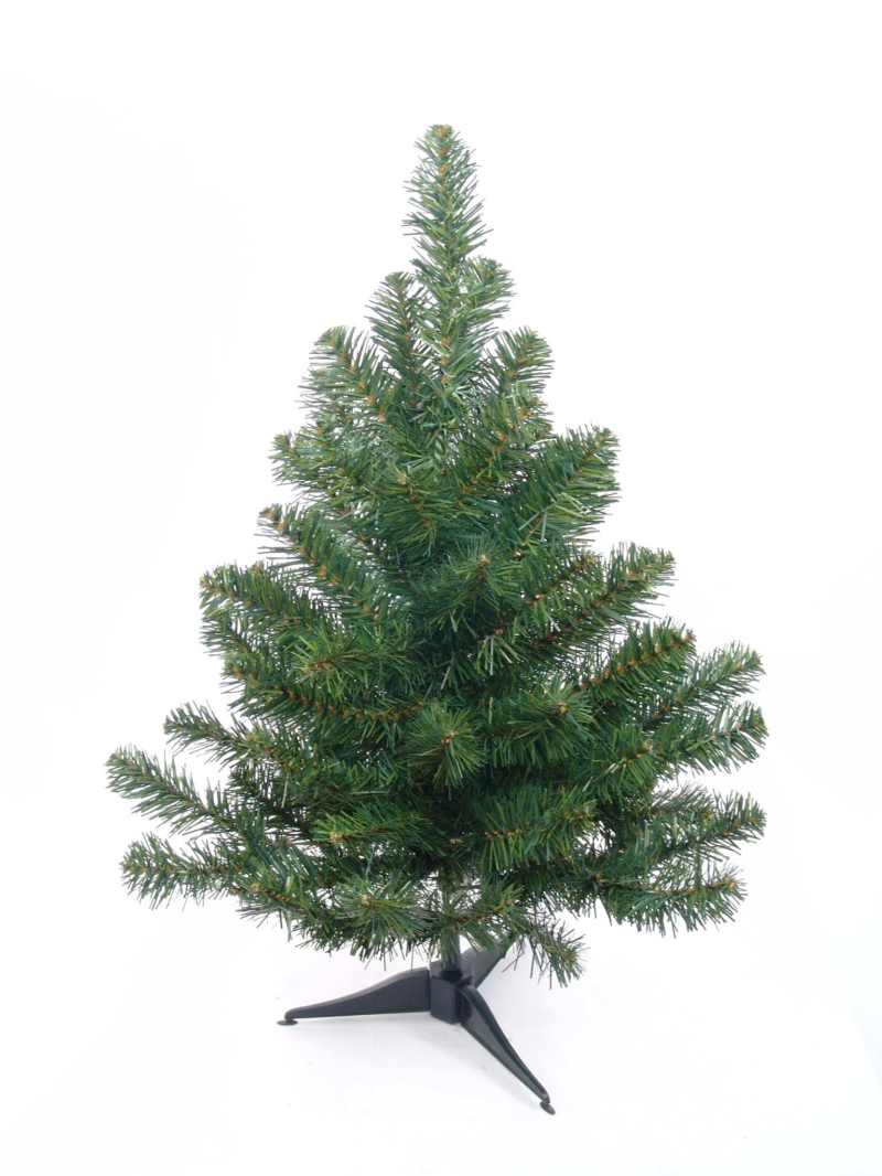 2' NORTHERN SPRUCE TREE 75T, PLST STAND - GREEN
