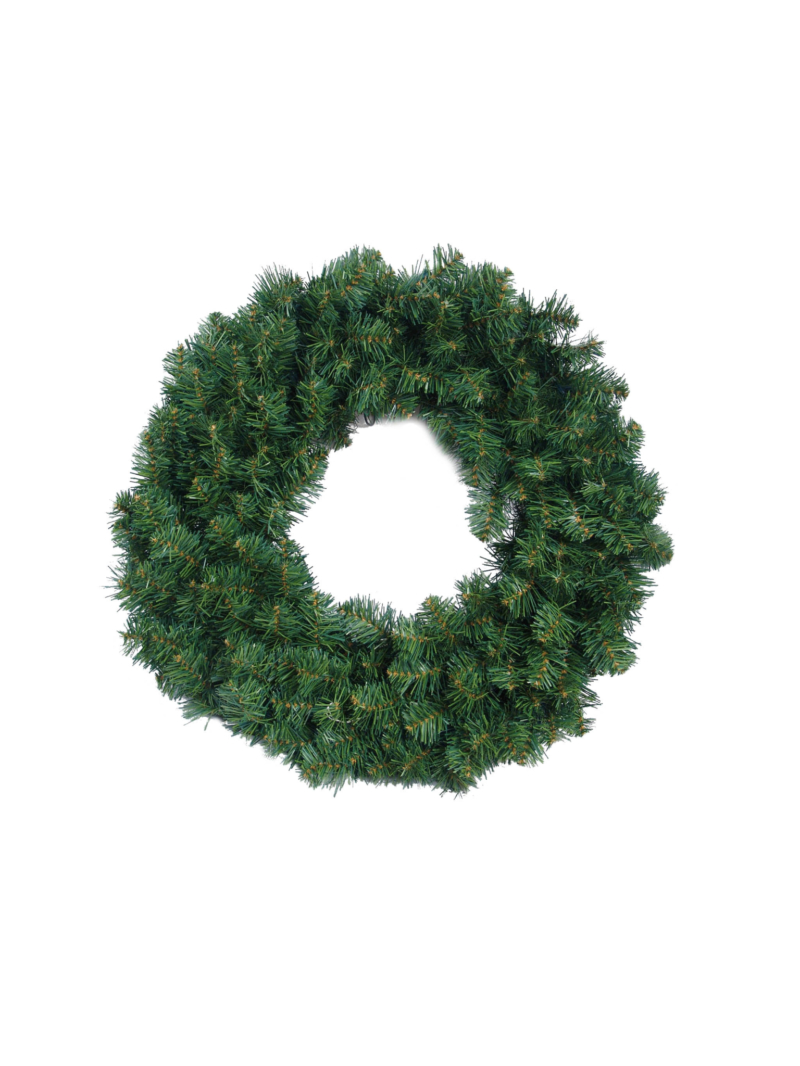 "24"" NORTHERN WREATH (500LT/200TIP) - GREEN"