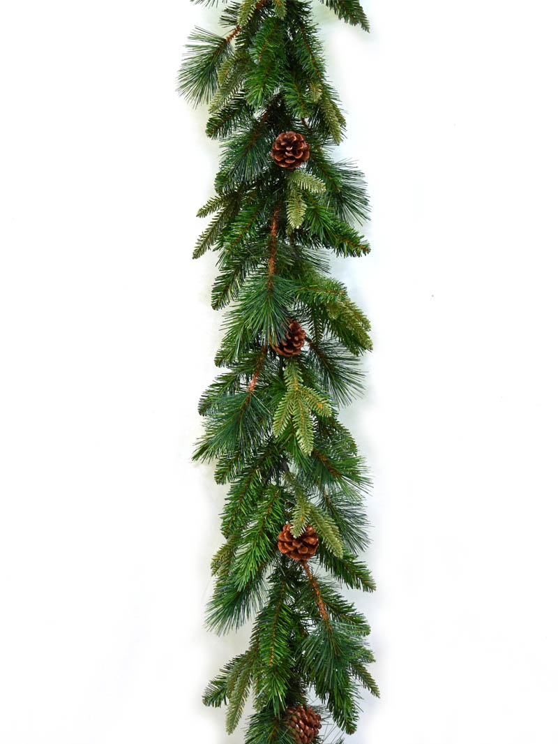 "9'X12"" ANGEL PINE GARLAND W CONE"