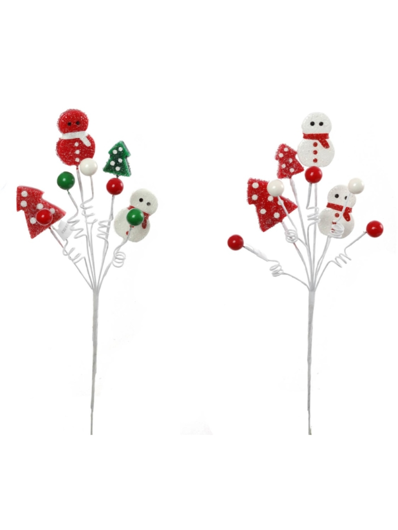 "15"" ASSORTED SNOWMAN BERRY TREE SPRAY"