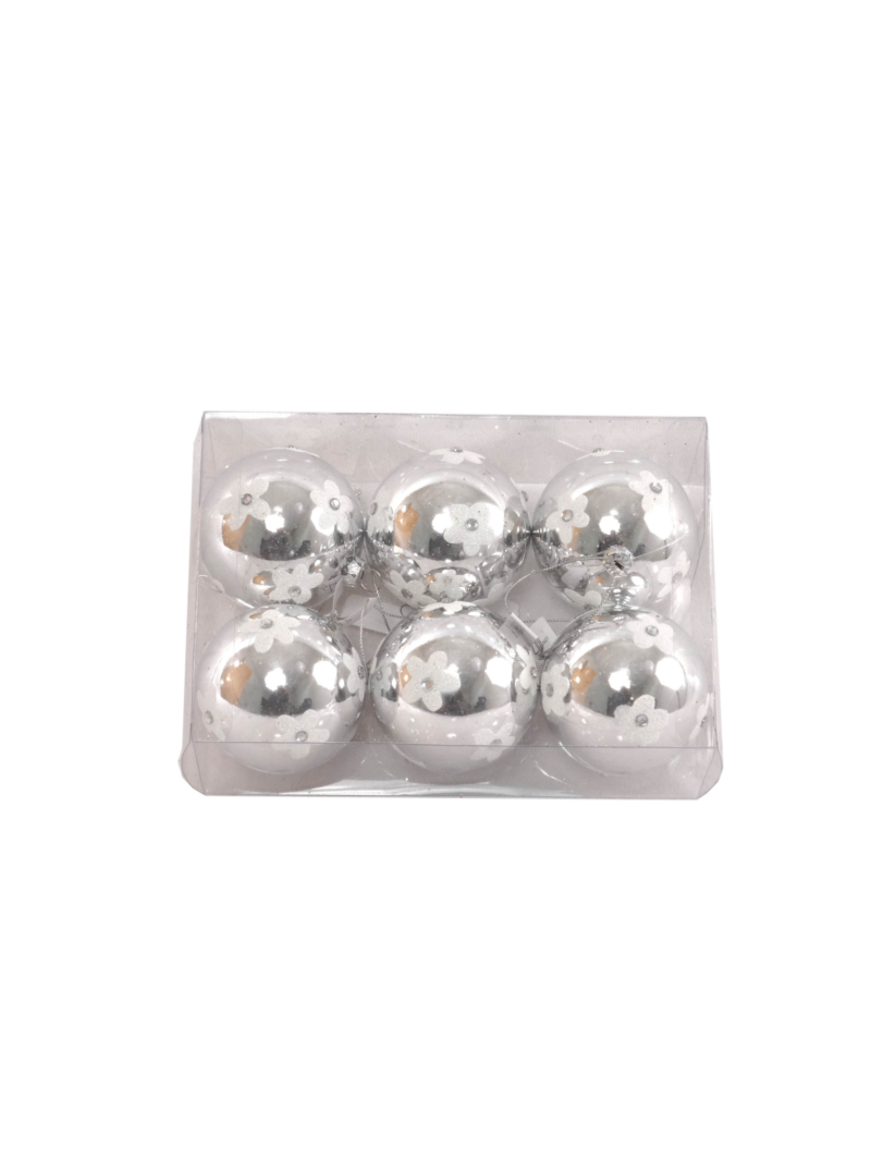 70MM PLS PAINT BALL 6/BX ON CAP - SILVER