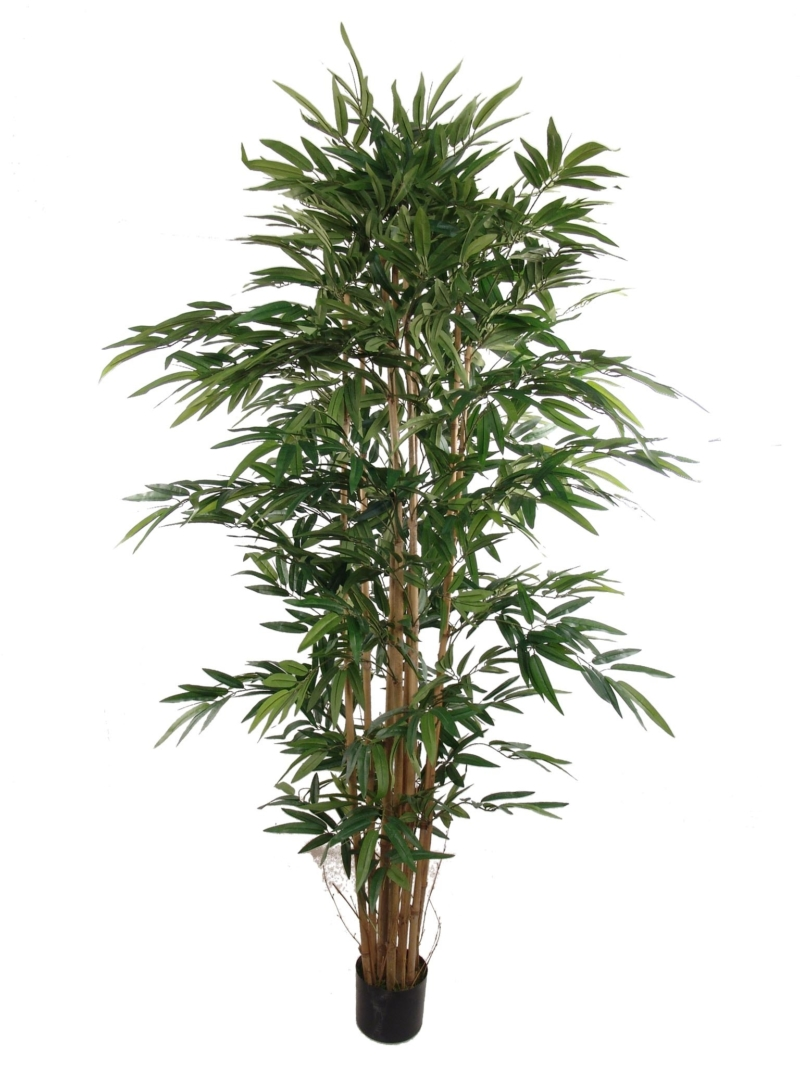 7'BAMBOO TREE W/1872 LVS - GREEN