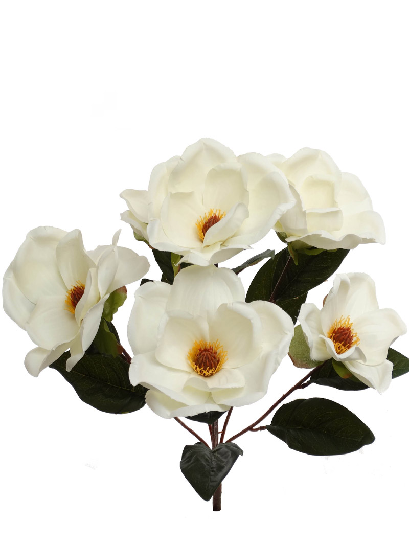 "22"" MAGNOLIA BUSH X7 - WHITE"