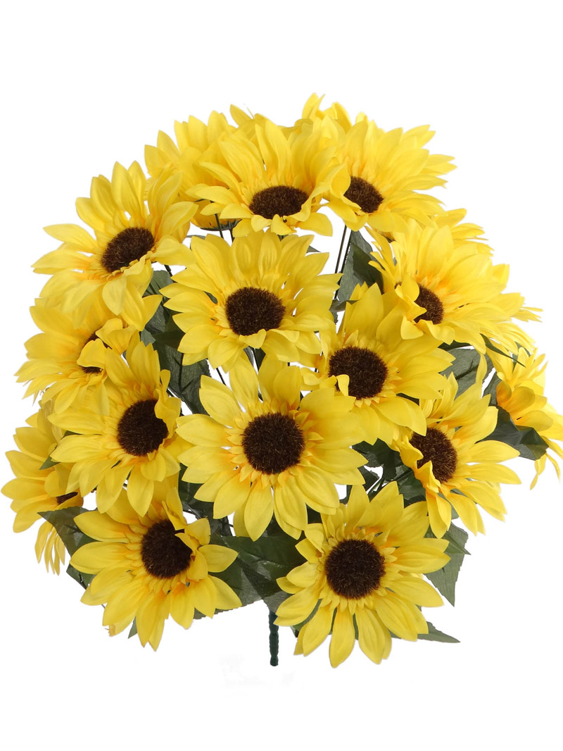 "20"" SUNFLOWER BUSH X24 - YELLOW"
