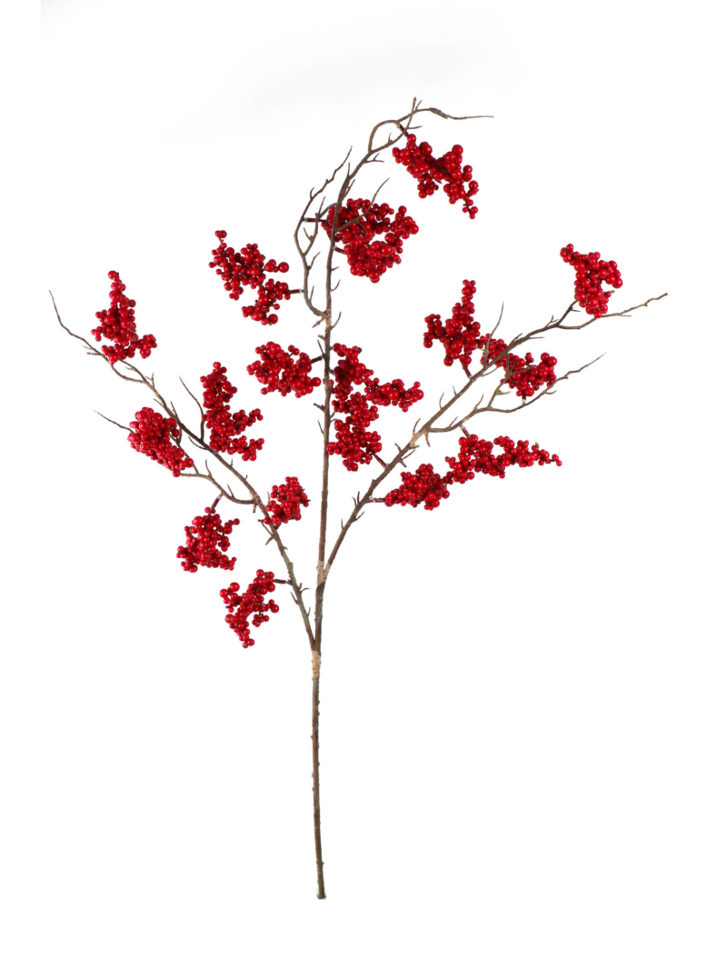 "38"" CURRANT BERRY SPRAY - RED"