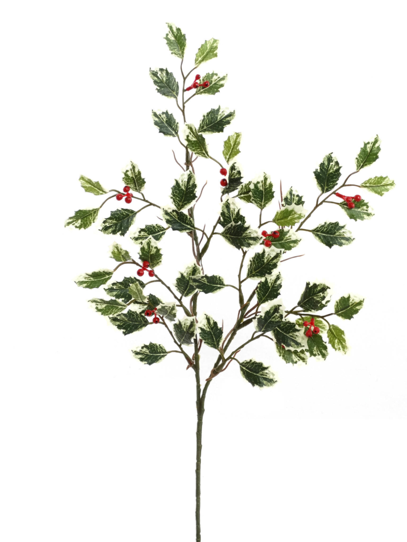 "17"" MINI HOLLY SPRAY BERRIES/54 LVS"