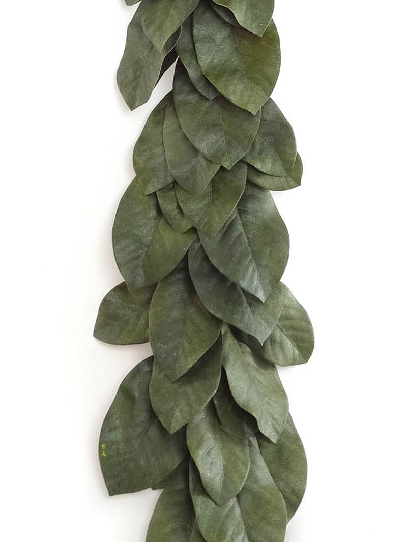 5' MAGNOLIA LEAF GARLAND - GREEN