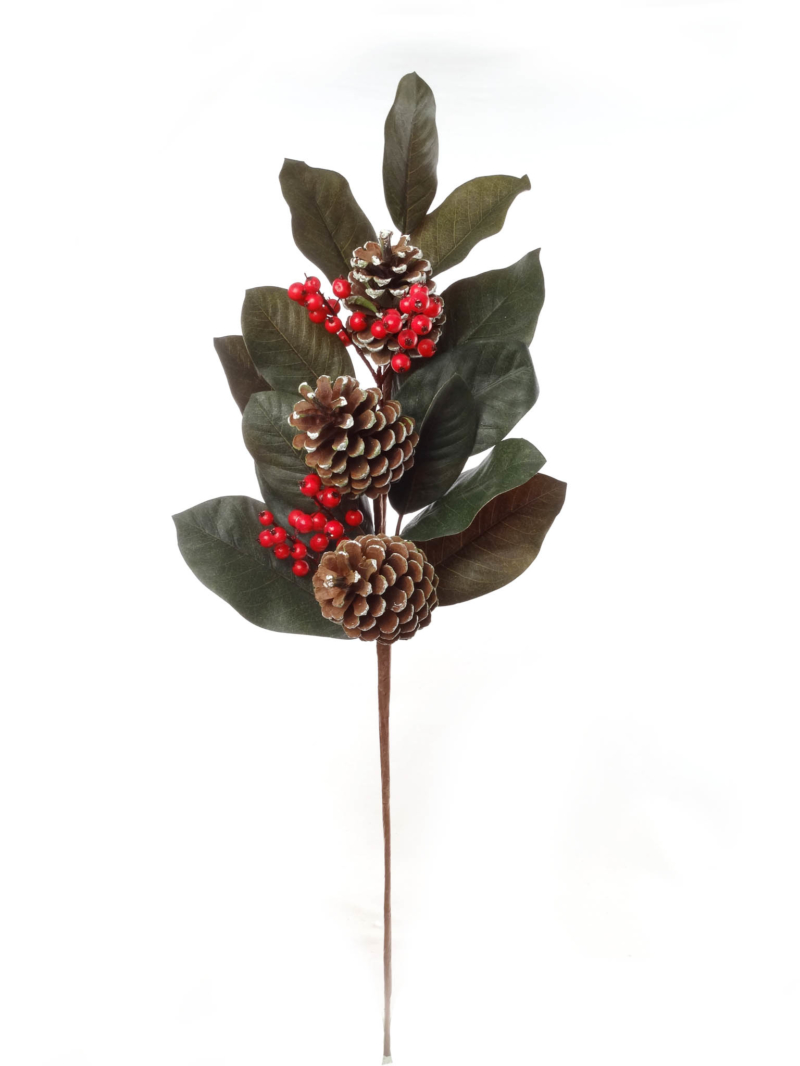 "33"" MAGNOLIA LEAF W BERRIES"