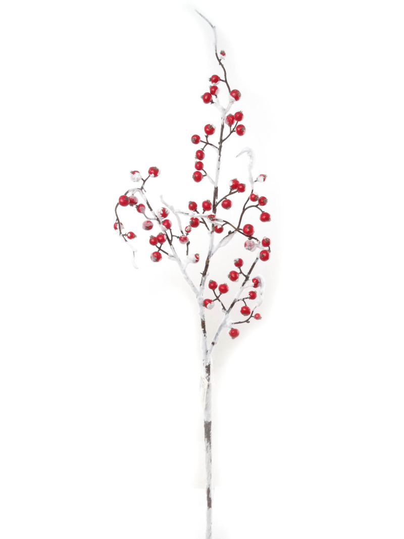 "26""SNOWY BERRY SPRAY - RED"