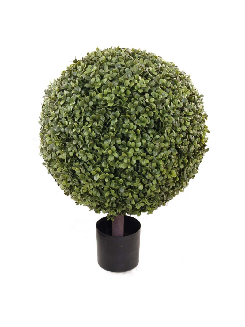 "29"" BOXWOOD BALL TOPIARY 20"" DIA IN POT - GREEN"