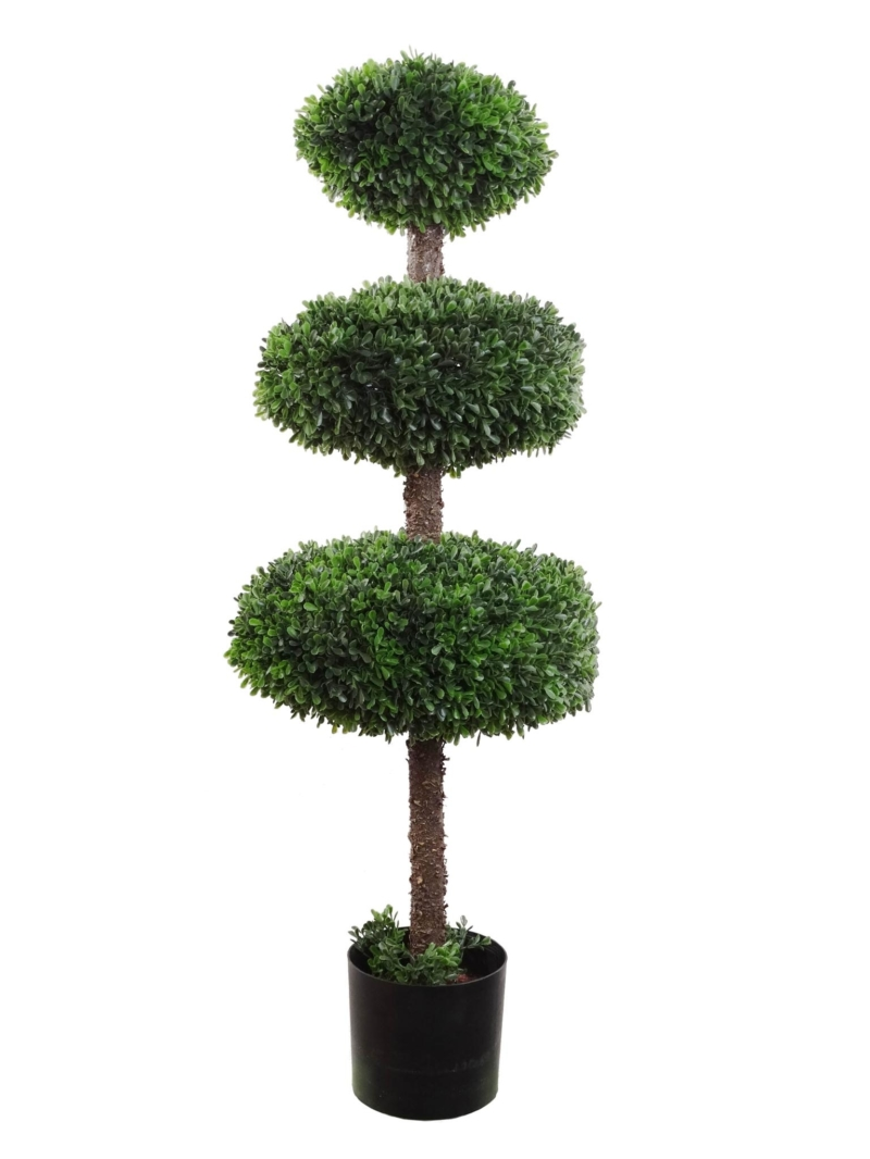 "41"" BOXWOOD TRI TOPIARY - GREEN"