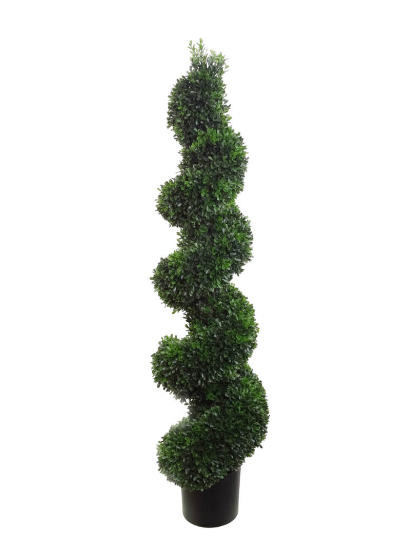 "44"" BOXWOOD SPIRAL TOPIRY - GREEN"