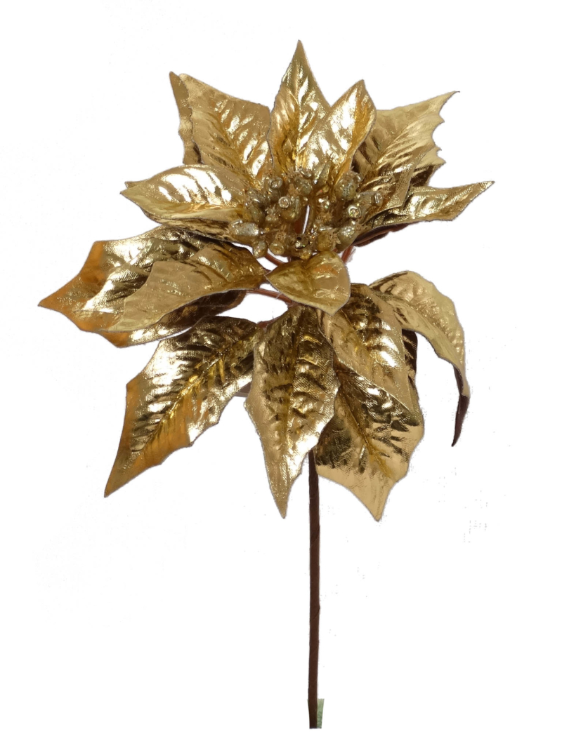 "9.5"" MET POINSETTIA PICK   - GOLD"
