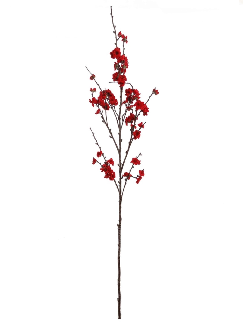 "49""PLUM BLOSSOM SPRAY - RED"
