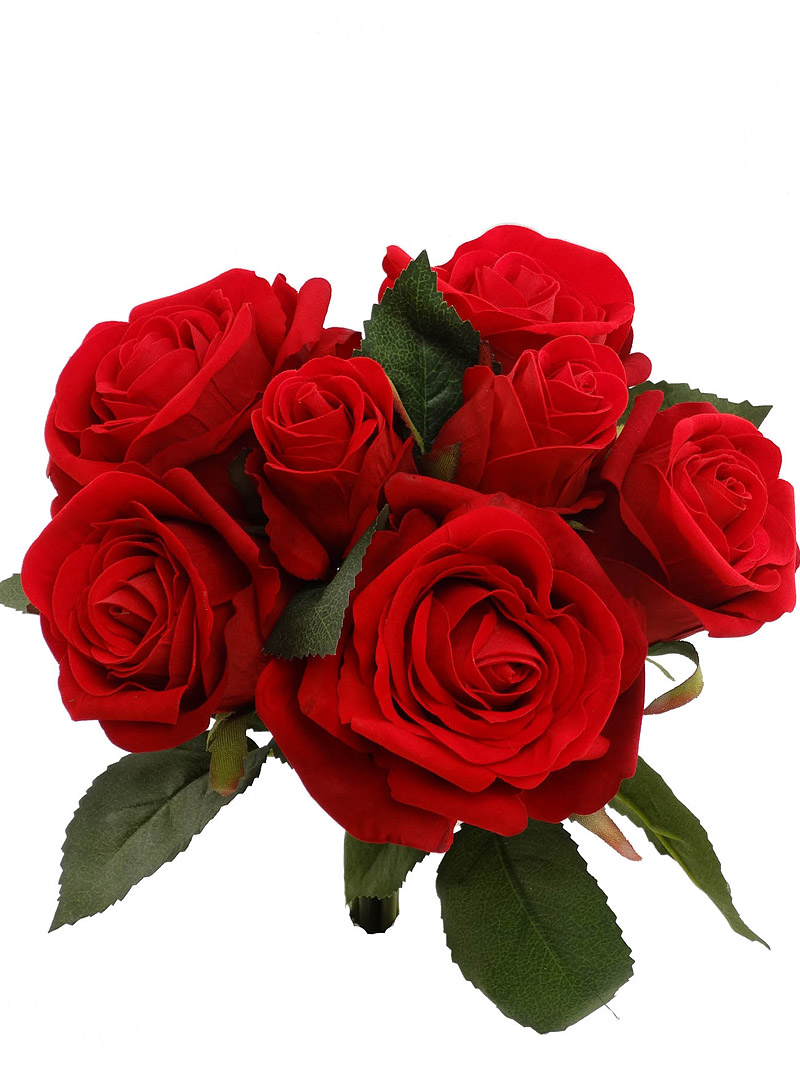 "10"" VELVET ROSE BUNDLE X7 - RED"