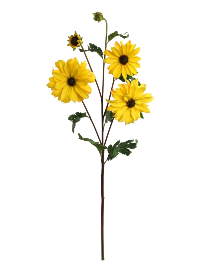 "24"" DAISY SPRAY W3F 2 BD - YELLOW"