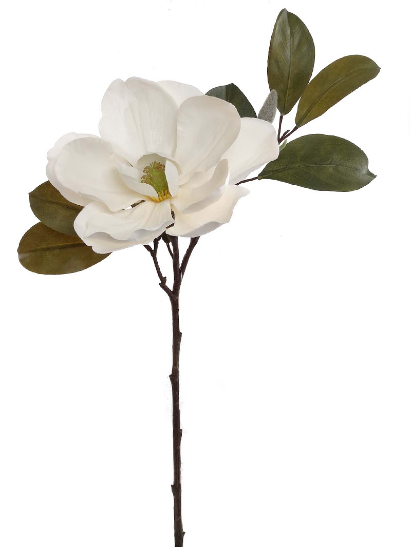 "23"" MAGNOLIA SPRAY - WHITE"