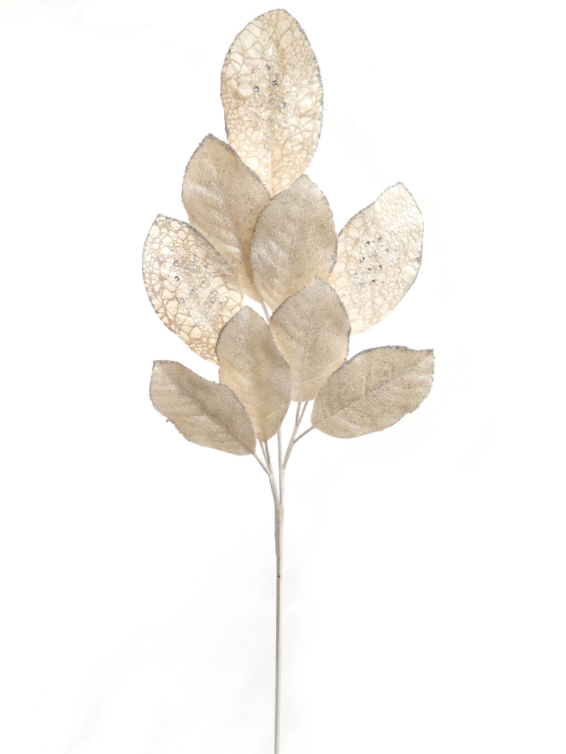 "36"" WH MAGNOLIA LEAF PICK   - WHITE"