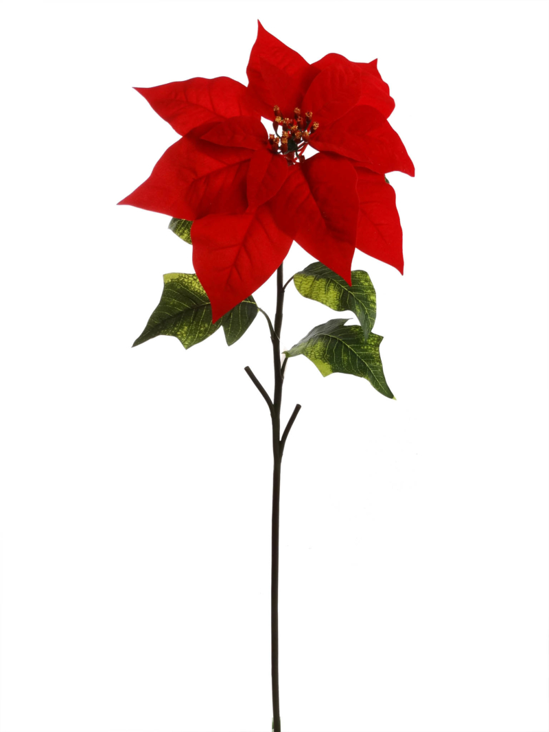 "29.5"" RED POINSETTIA - RED"